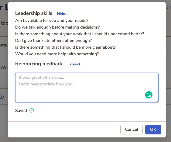 Follow guidelines to give feedback in a professional way