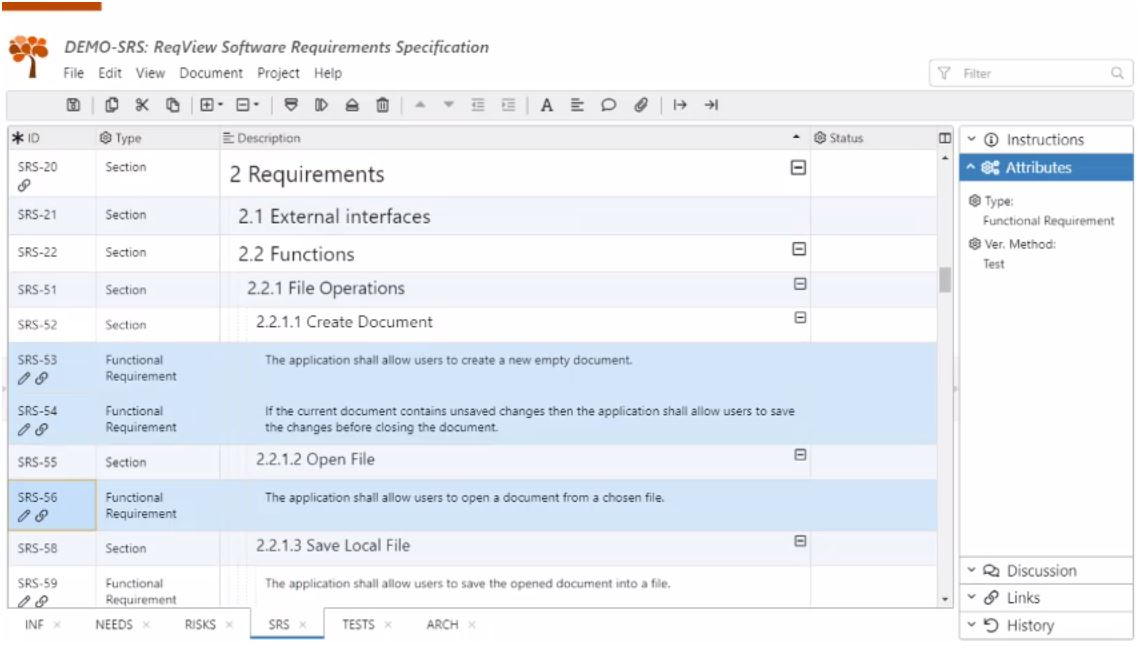 ReqView requirements management