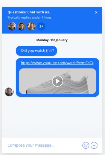 Crisp attach videos