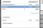 Captura de tela do Openbravo: Layaways