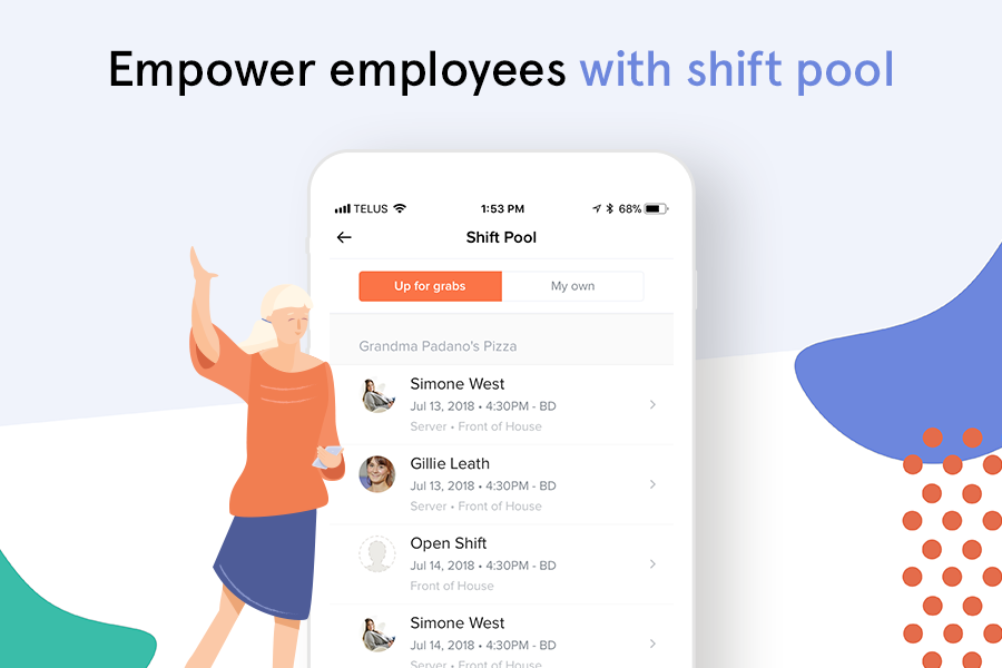 Quickly approve or decline requests for time off, availability and shift trades