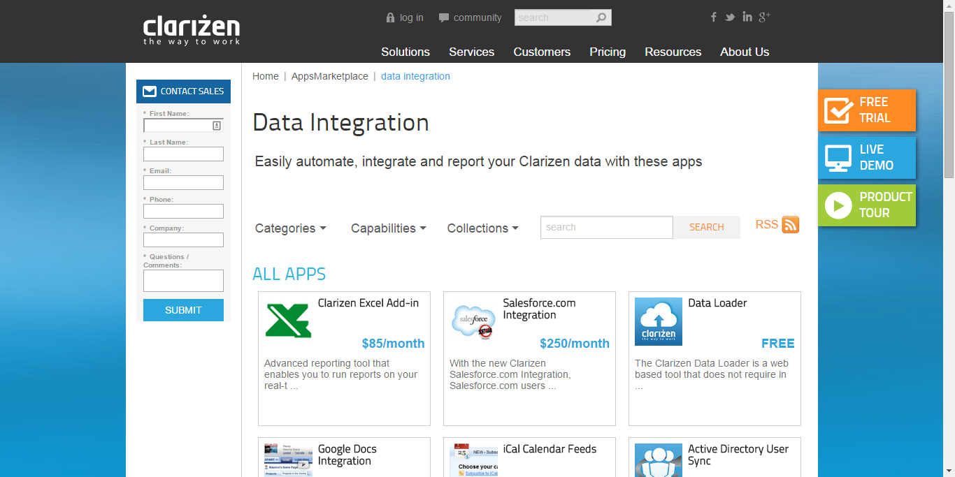 Automate, integrate and report with Clarizen's integrations