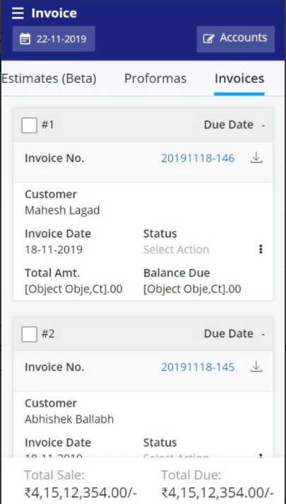 Giddh invoices