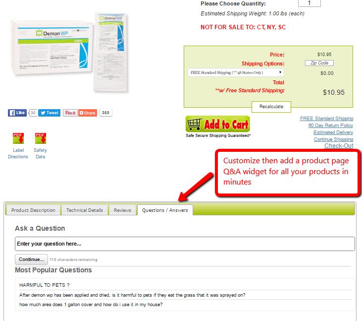E-Commerce Product Page Widget