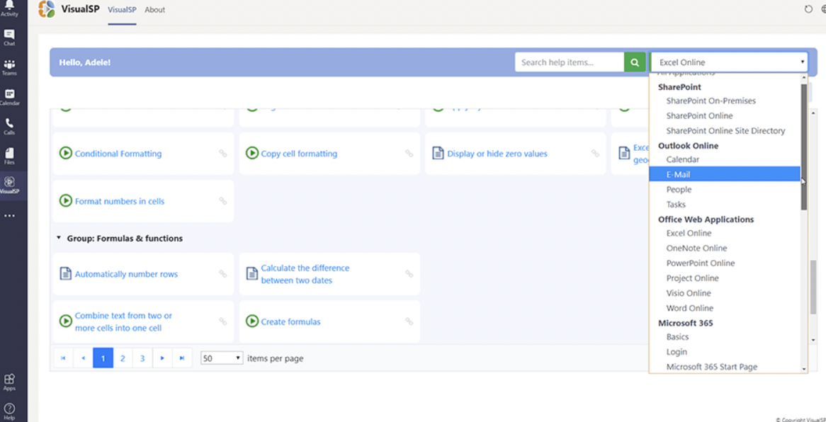 Powerful search and filtering tools allow you to quickly find the most relevant training materials for your users needs from one central location.