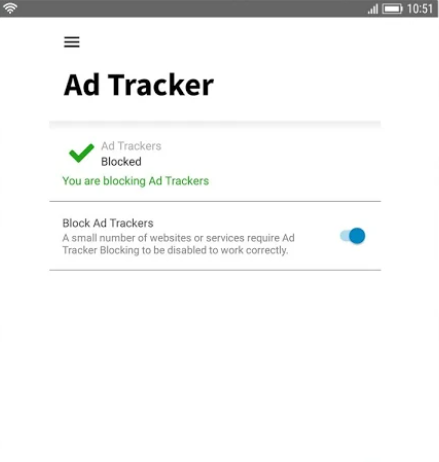 Norton Secure VPN ad tracker blocking