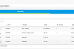 Bellwether PO and Inventory screenshot: Enter the Purchase Order number from the Purchase Order program and immediately creates the complete invoice.