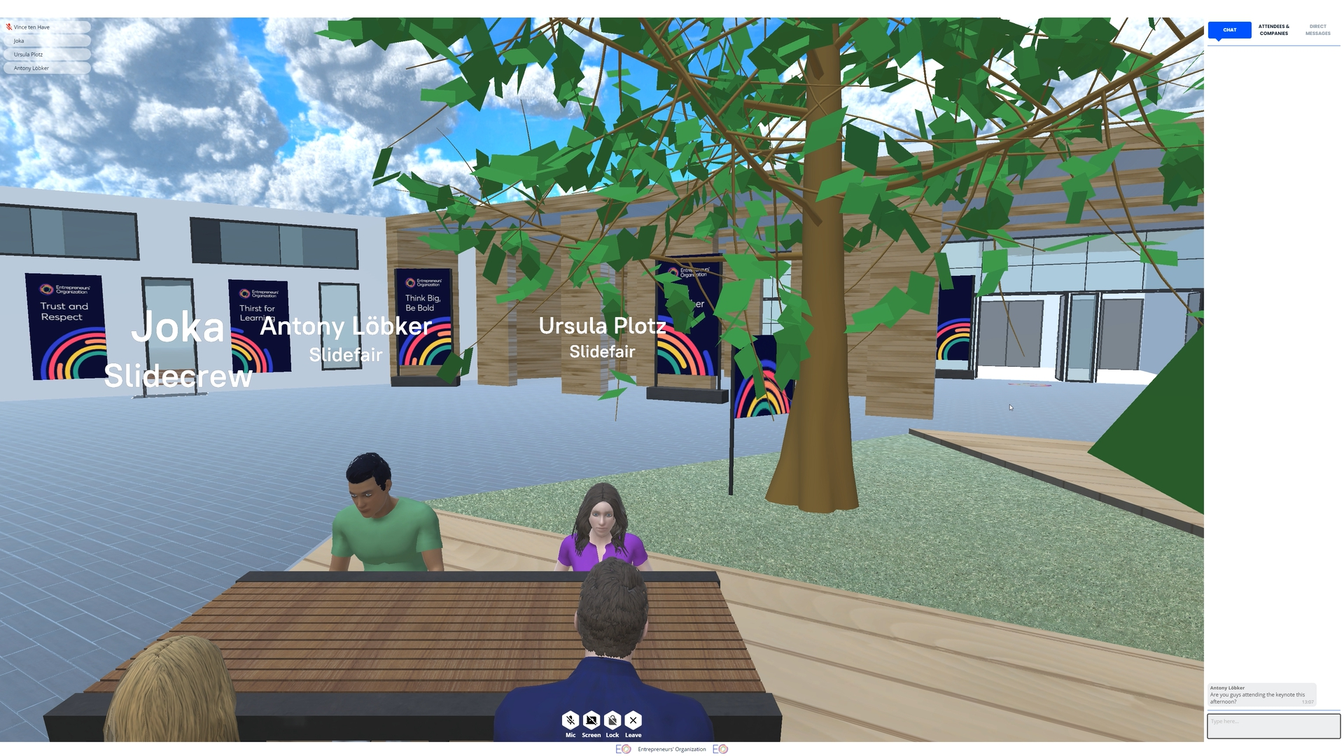 """Benches and Tables are private voice and text chat rooms in disguise, with a """"lock"""" feature for privacy."""