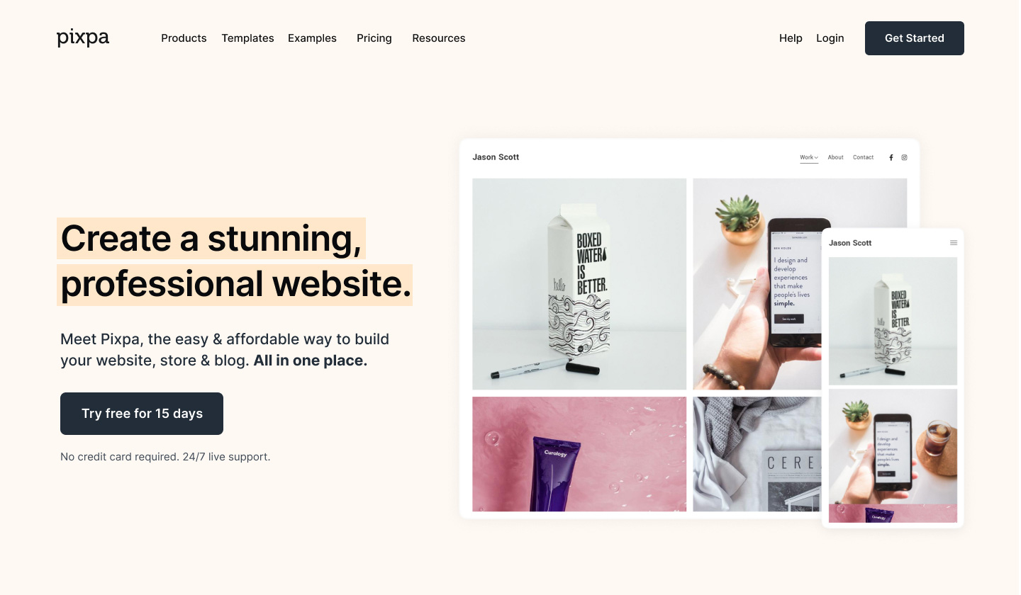 Pixpa - Website builder for creatives and small businesses