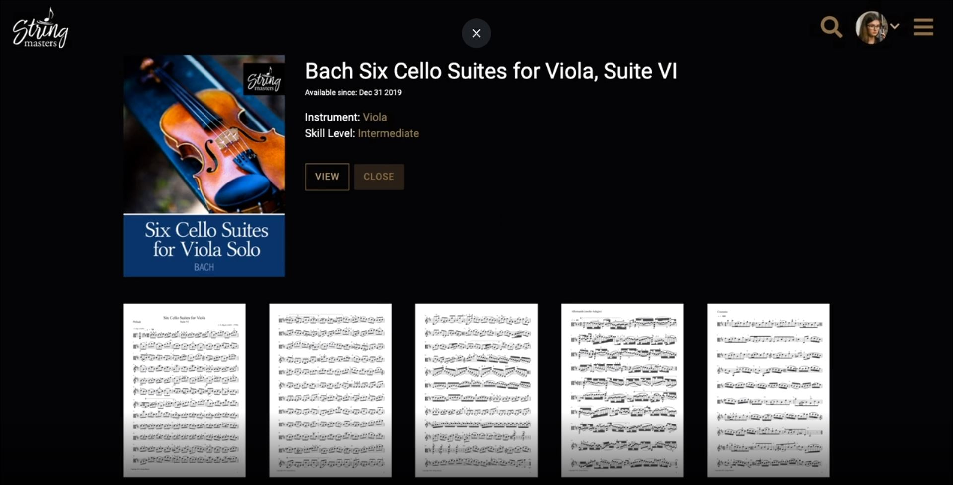 String Masters digital music sheets