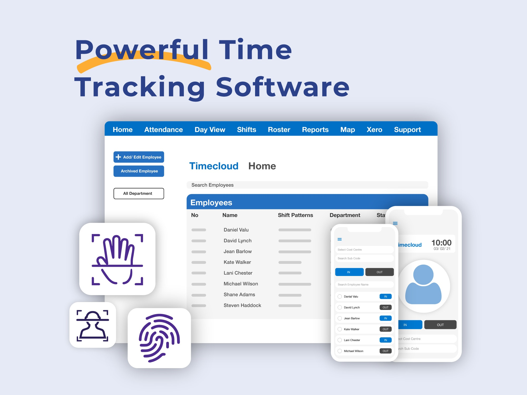TimeCloud Time and Attendance screenshot