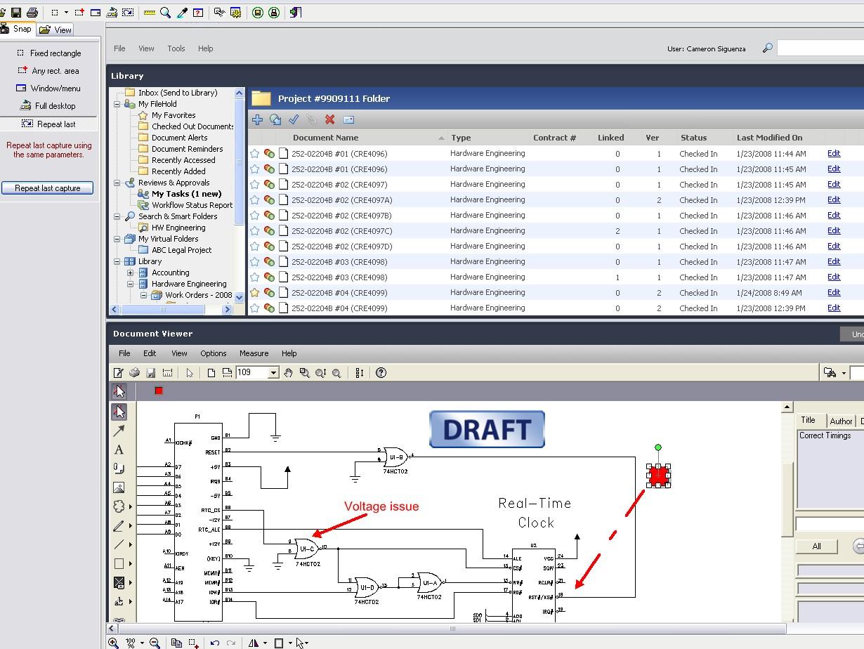 FileHold screenshot: Document Viewer