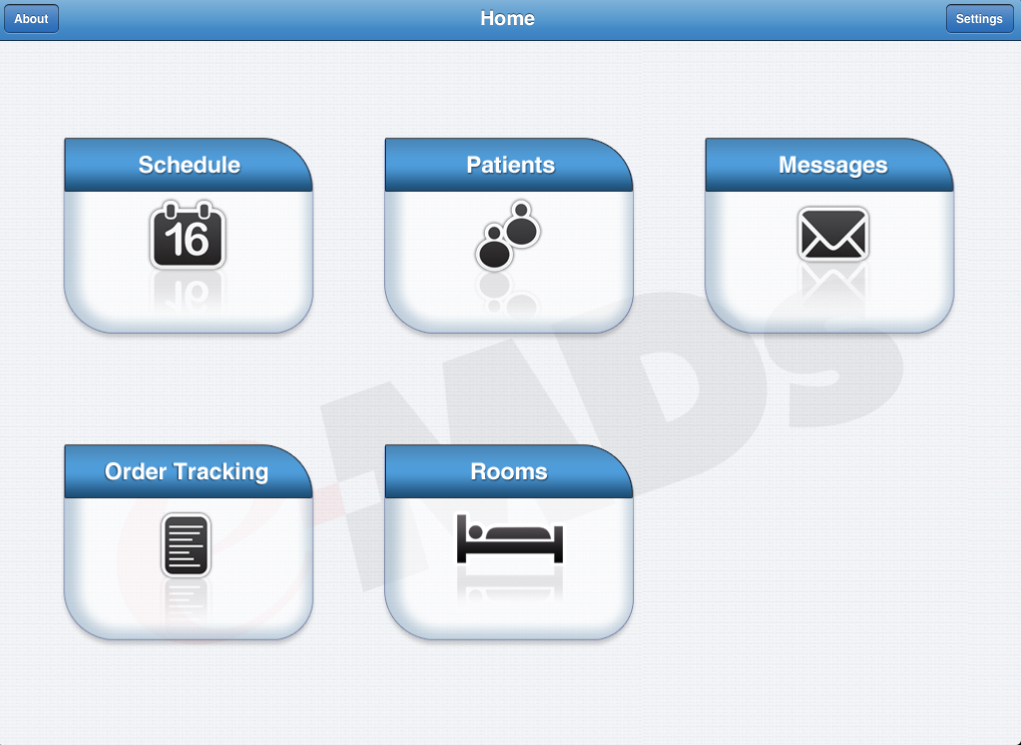 e-MDs nMotion for iPad home screen