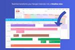 Capture d'écran pour TeamCal : TeamCal transforms your Google Calendar into a timeline view
