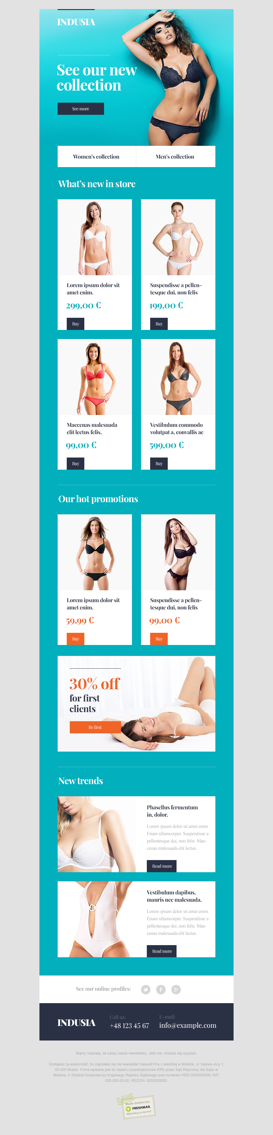 Indusia Newsletter Template