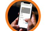 Capture d'écran pour Commusoft : Customers can even pay an invoice from their phone.