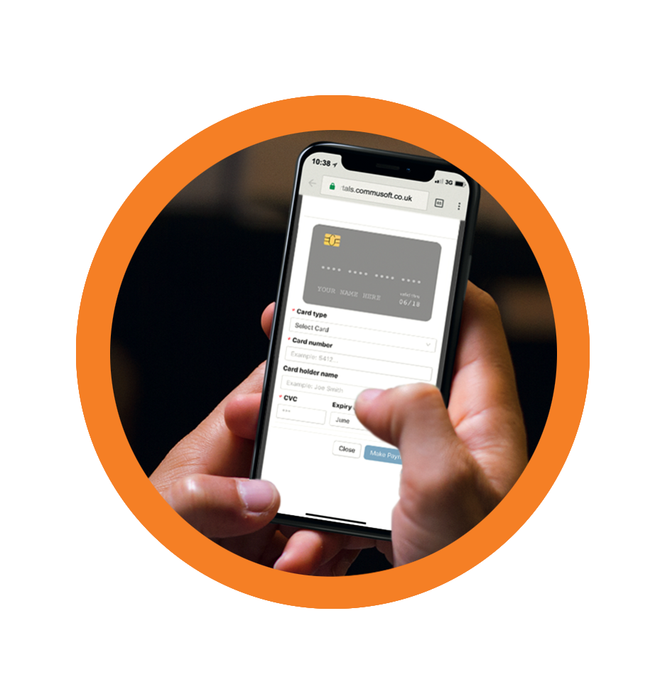 Customers can even pay an invoice from their phone.