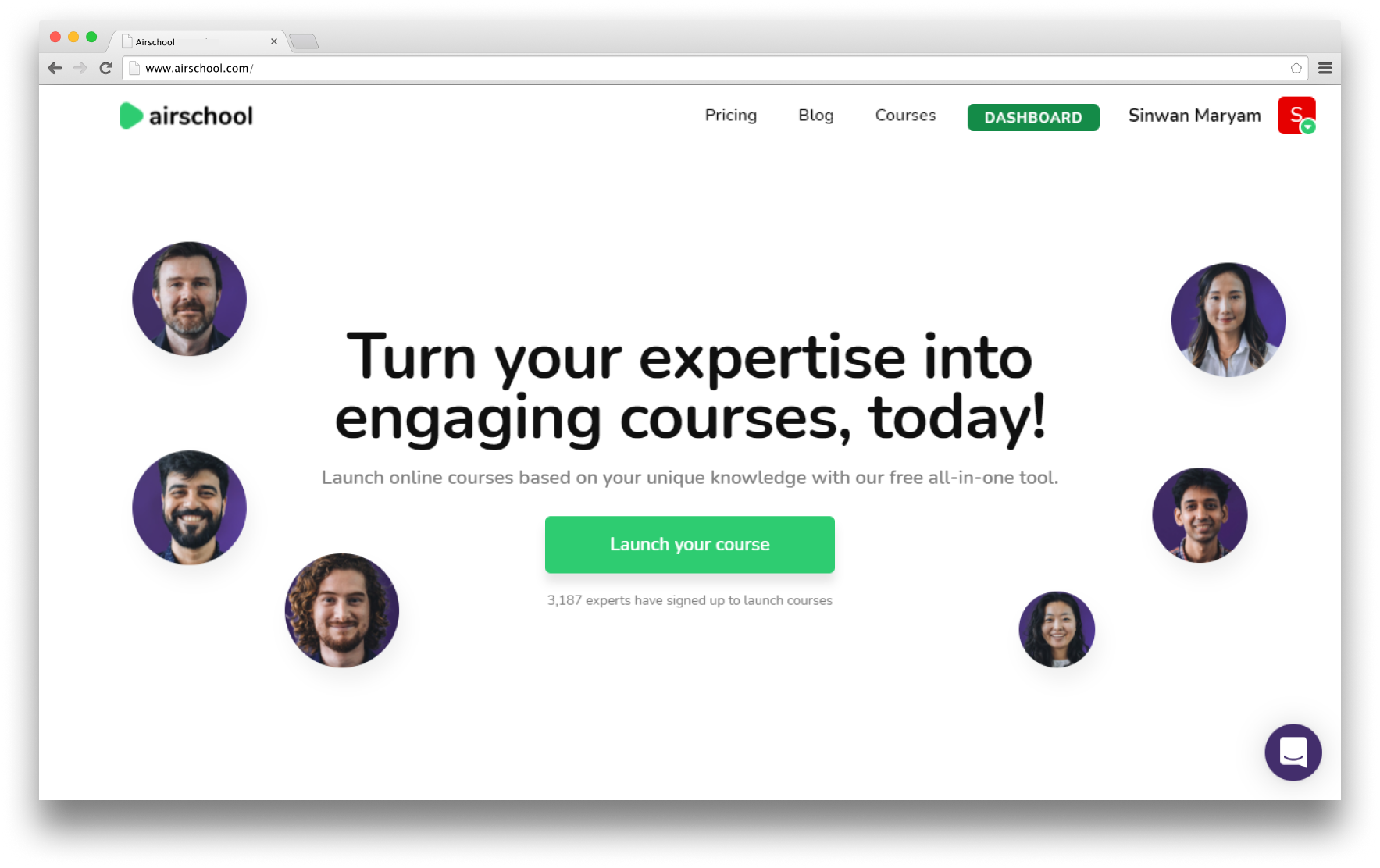 Airschool - create your own online course