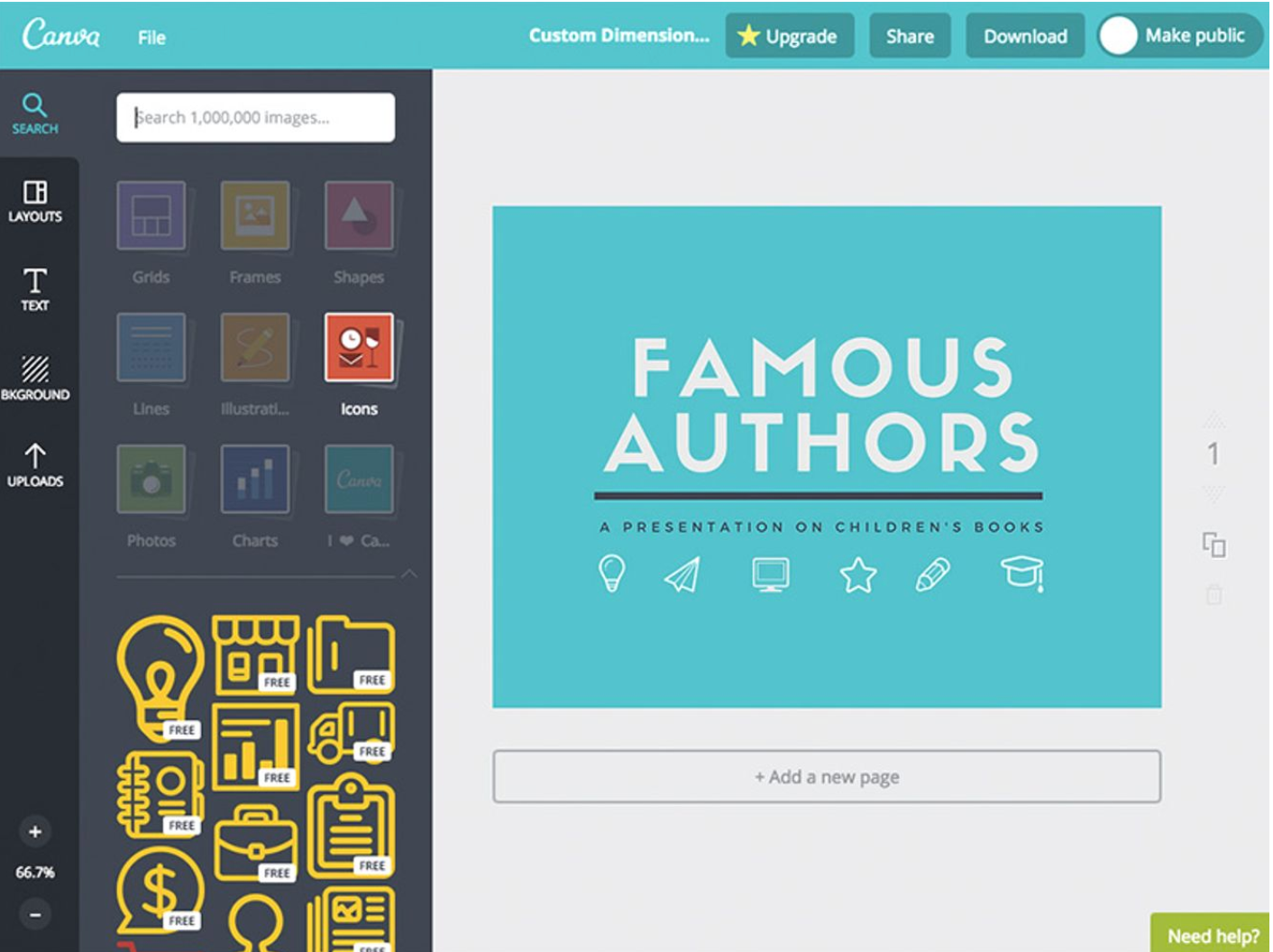 Canva Software - Canva add icons