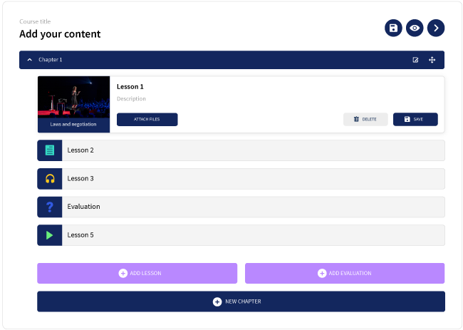 Teachlr Organizations screenshot: Custom training content can be created and assigned to learners