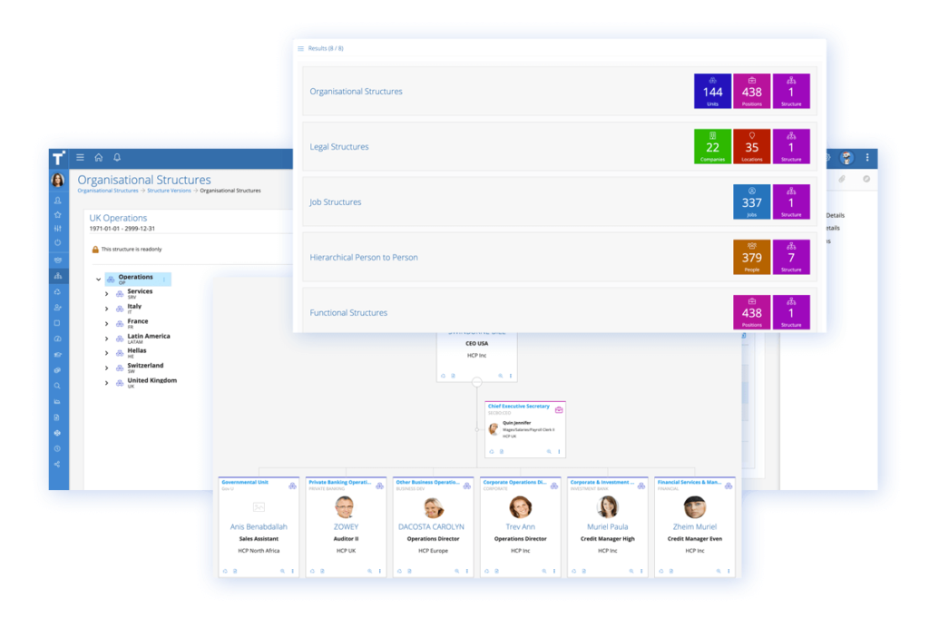 Talentia HCM Software - Charting Software. There's no faster way to visualise the shape of your business or help employees understand where they and everyone else fits in than through dynamic, real-time organisation charts. View your complete organisation in seconds.