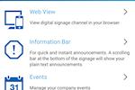 Contegro screenshot: Access Contegro's digital signage dashboard remotely via mobile device