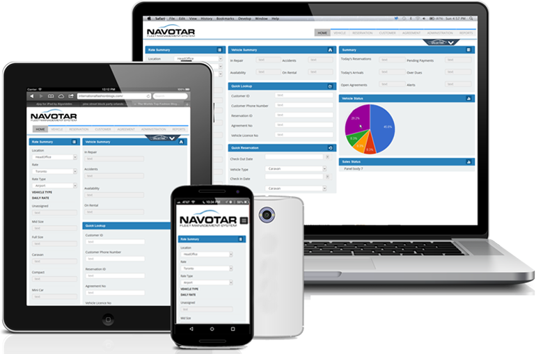 Navotar screenshot: Navotar is accessible at any time or place by means of a computer, mobile or handheld device connected to the internet