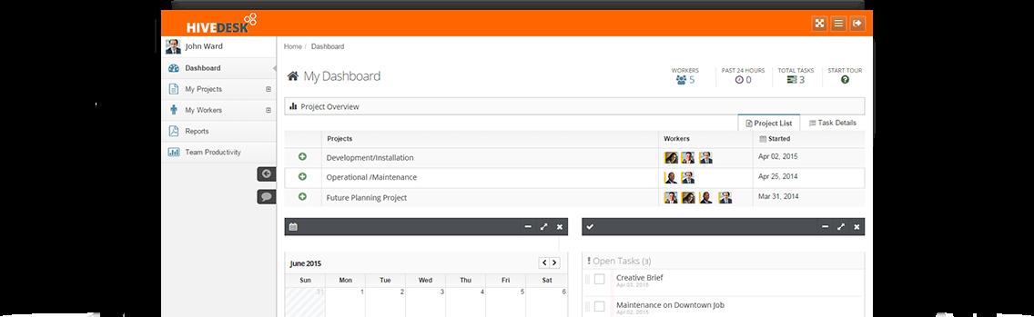 HiveDesk Software - Dashboard