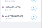 Ring4 screenshot: Ring4 number list screenshot