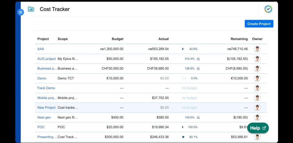 Tempo Cost Tracker Software - 3