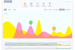 GlassWire screenshot: GlassWire visual network monitoring