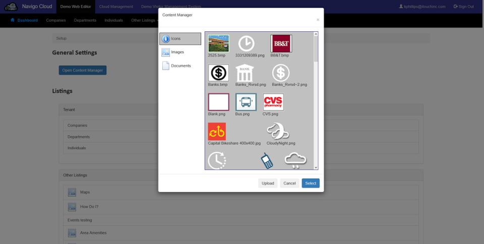 Navigo Digital Signage Content Manager
