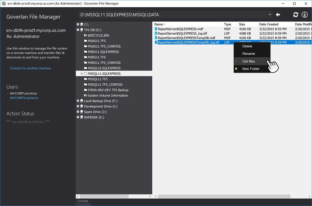 Remote file transfer