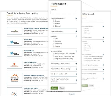 Exware Association Management Software - Volunteer search