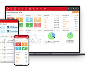 Flowlens cloud MRP software works across all your connected devices.