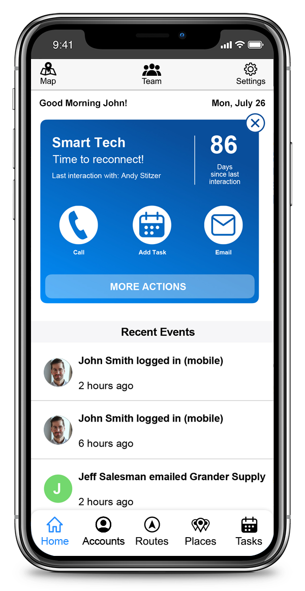 CallProof Software - Keep up with calls, appointments emails and recent activity
