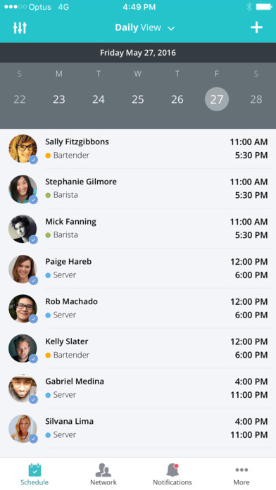 OpenSimSim daily shift view screenshot