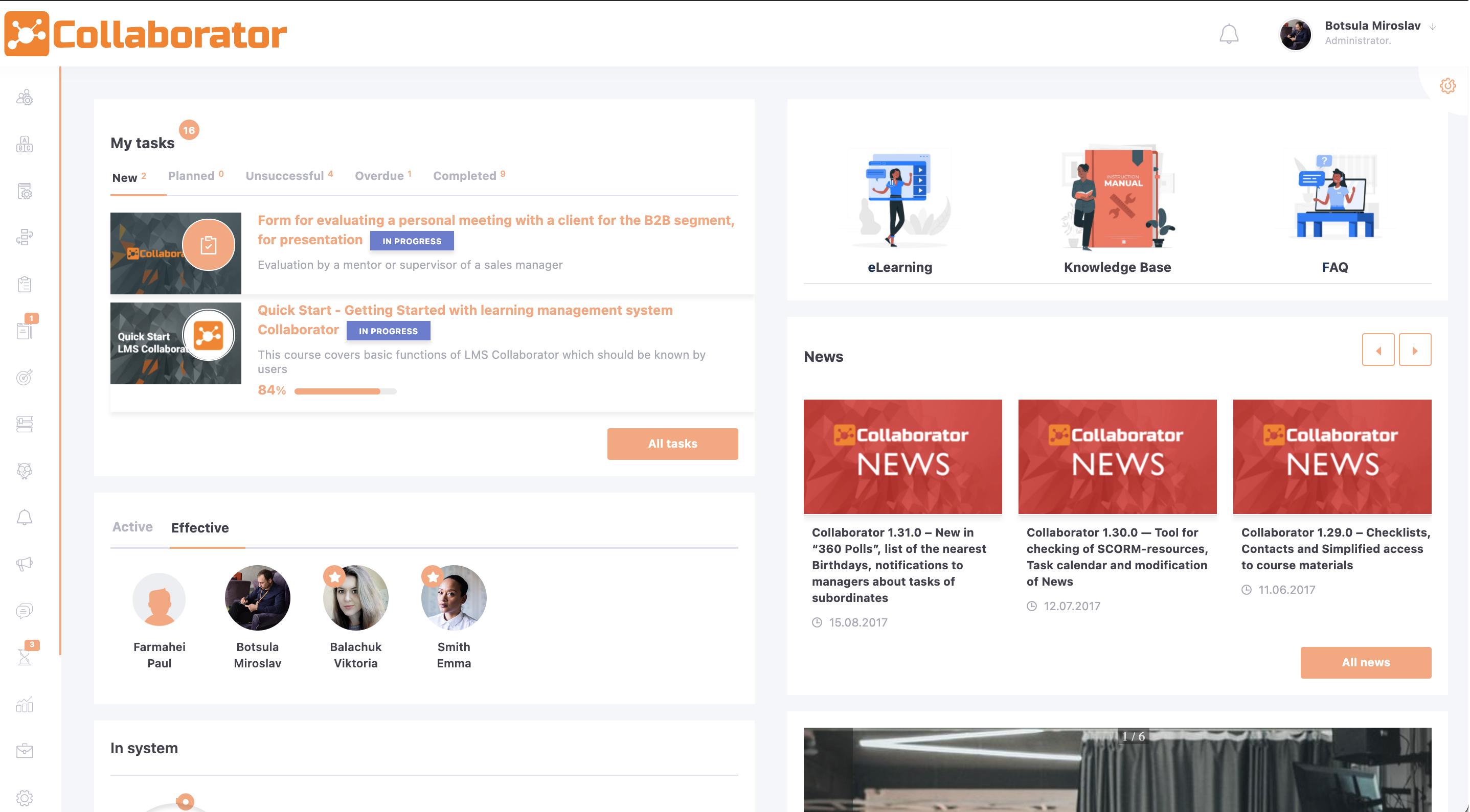 Collaborator main interface