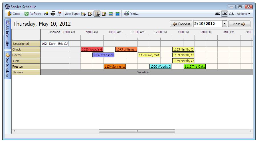 Time scheduler