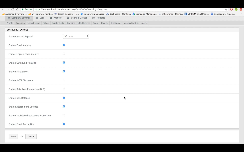 modusCloud Software - Feature activation