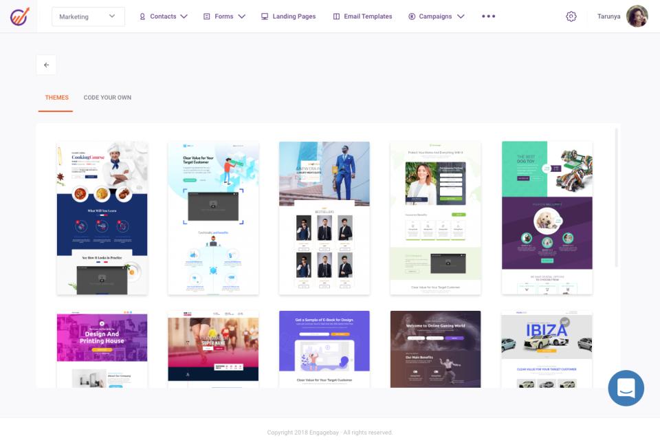 EngageBay Software - Landing pages