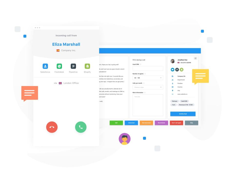 CloudTalk incoming call