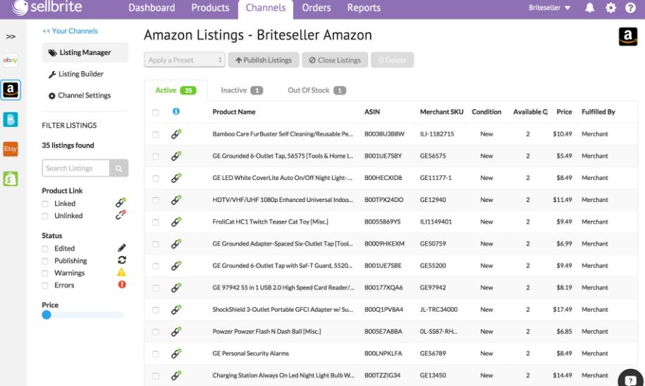 Sellbrite Software - Sellbrite Amazon listing