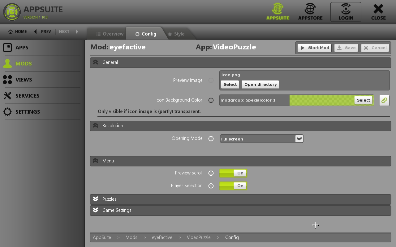 AppSuite Touch-CMS