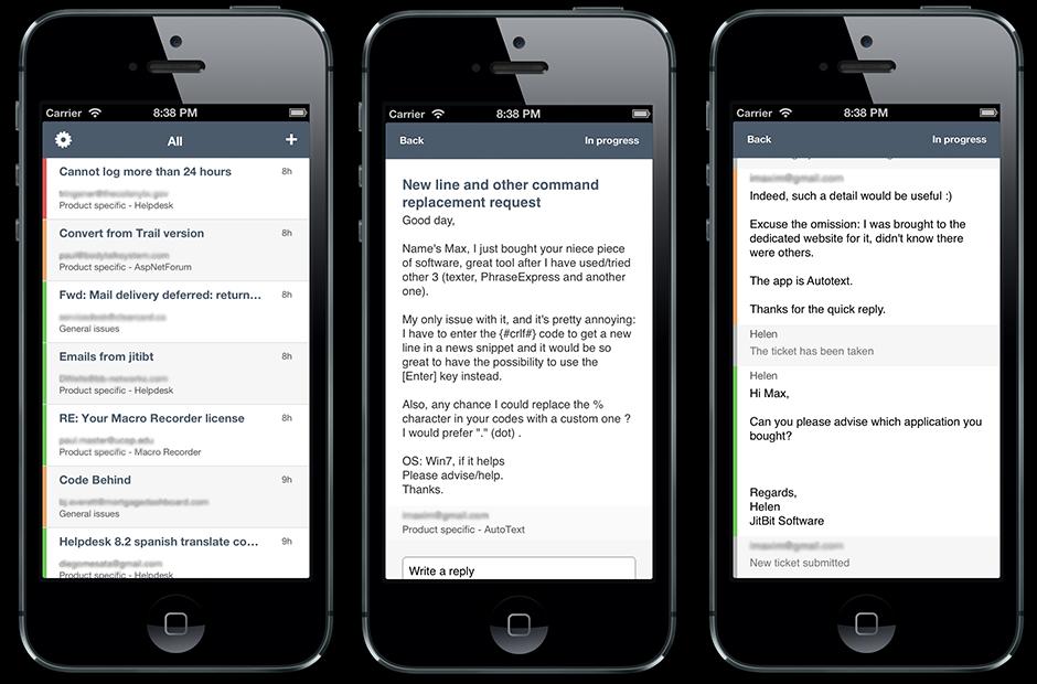 JitBit Help Desk iPhone app