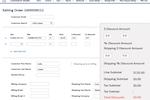 Commerce Studio screenshot: Commerce Studio edit orders