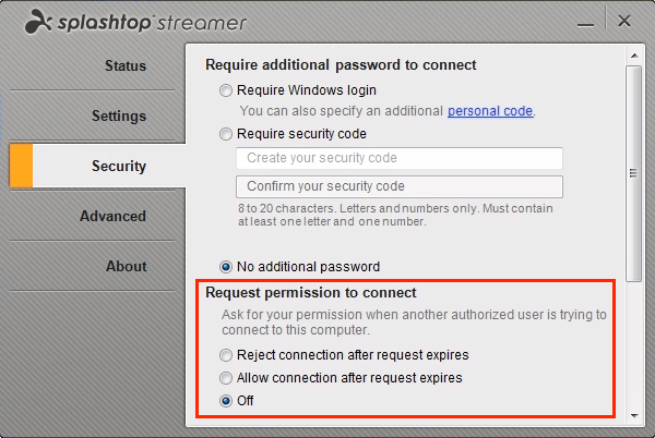 Splashtop Business Access screenshot: The solution enables users to connect with remote computers