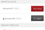 Zen Planner screenshot: If a member has an unpaid bill, you can have them make a payment within the App