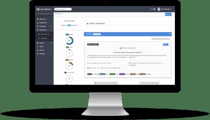 QuickMail.io Software - QuickMail.io emergency list screenshot