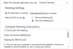 Captura de pantalla de Amazon Chime: Dial-in numbers can be provided, enabling participants to call in to meetings from more than 70 countries